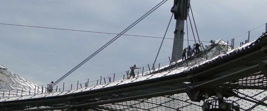 Auf's Dach vom Olympiastadion