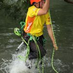 Jo Hedger (UK), Dritte bei den Frauen, im kühlen Nass