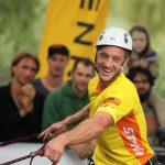 Roger Tanner (Schweiz), der Europameister 2013, beim Heimspiel in Aktion