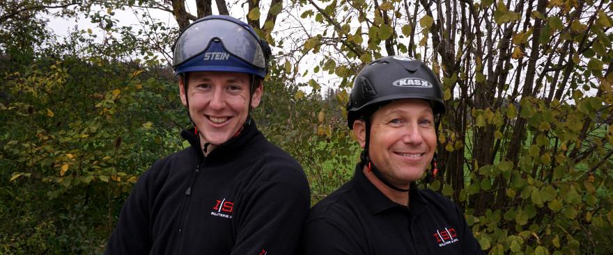 Rich Hattier und Adam Davies von ISC