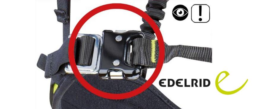 EDELRID Sicherheitshinweis: Click-Lock Schnallen