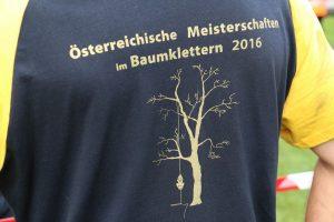 T-Shirt von den Österreichischen Meisterschaften im Baumklettern 2016