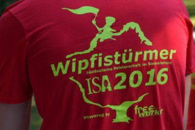 T-Shirt von den Süddeutschen Meisterschaften im Baumklettern 2016