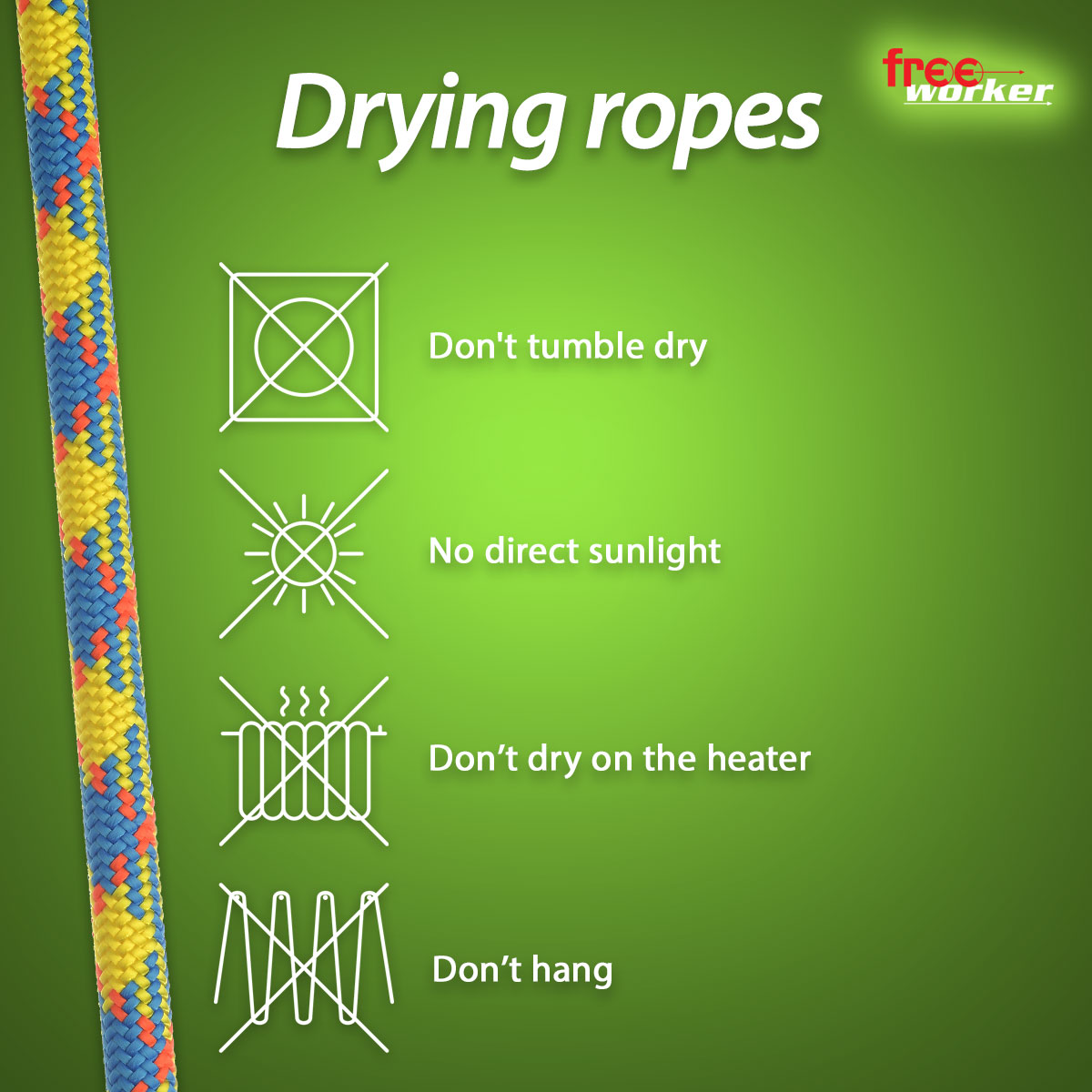 Drying ropes the right way