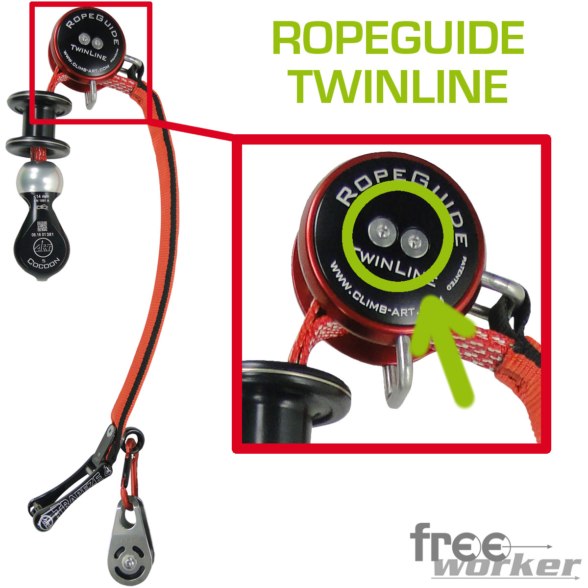 Wichtiger Sicherheitshinweis RopeGuide TwinLine