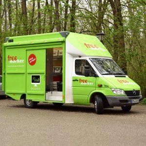 Small green truck