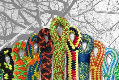 verschiedene Seile mit Spleiß